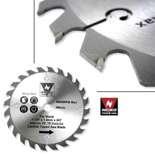 Neiko 10771A USA 30 Tooth Carbide Tipped Circular Saw Blade, 4-3/8″
