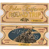 Polar Express 'BELIEVE' Original Size Round Trip Hole Punched Keepsake Ticket