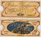 Polar Express 'BELIEVE' Original Size Round Trip Hole Punched Keepsake Ticket