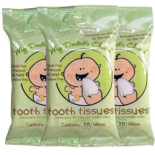 Imagen de Los tejidos dentales *** (3) tres paquetes de toallitas *** dental para bebés y niños pequeños Smiles