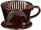 カリタ 陶器製コーヒードリッパー 101-ロト(1~2人用) ブラウン #01003