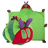 The Very Hungry Caterpillar - Multi-Purpose Stuffed Animal - Pillow or Wearable Hooded Blanket - Perfect for Naps and Bedtime - Great for Toddlers (Green, Red Caterpillar) - by Comfy Critters