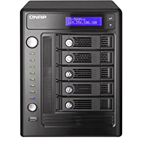 QNAP TS-509 Pro Turbo NAS - NAS - Serial ATA-300 - RAID 0, 1, 5, 6, JBOD, 5 hot spare - Gigabit Ethernet