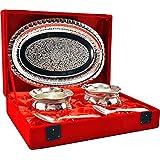 Indian Craft Villa Handmade Royal Gifts Silver Plated Handi Set Kitchenware And Diwali Gifting Purpose.