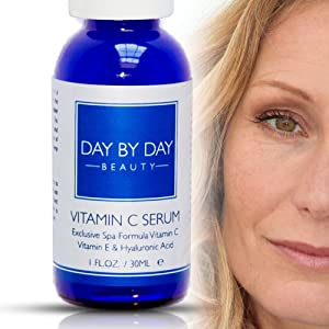 Best Vitamin C Serum Beautifies Face: Shown To Restore Facial Skin. ***200% SATISFACTION GUARANTEE: Total Satisfaction Or 100% MONEY BACK + EXTRA BOTTLE For FREE EXTENDED TRIAL PERIOD*** Best Vitamin C Serum For Your Face Includes Vitamin C + E Hyaluronic Acid Serum: Best Anti Aging Serum With Vitamin C. Day By Day Beauty's Best Anti Wrinkle Anti Aging Vitamin C Serum For Women: Be Beautiful!