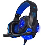 M.Way Stereo USB Surround Stereo Wired PC Gaming Headset Over Ear Headphones With Mic Revolution Volume Control...