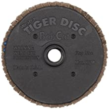 "Weiler 50905 BobCat 3"" Diameter, 80 Grit, Zirconium, Plastic Backing, Type 29 Specialty Abrasive Flap Mini Disc"