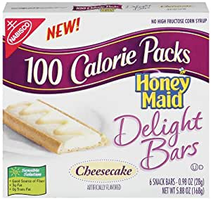 100 Calorie Packs Honey Maid Delight Bars, Cheesecake, 6-Count Bars (Pack of 10)
