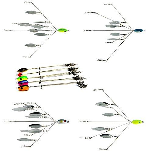 Sf 5 arms 4 8 blades alabama umbrella rig fishing bass Umbrella rig fishing