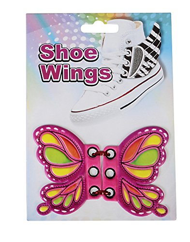 Pink Butterfly Shoe Wings Shwings Lace Boot Sneaker Costume Accessory