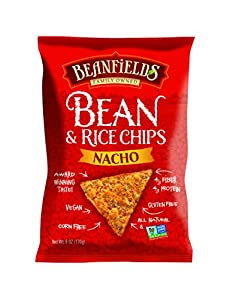 Beanfields Nacho Bean and Rice Chips, 6-Ounce