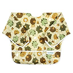 Bumkins Waterproof Sleeved Bib, Forest Friends (6-24 Months)