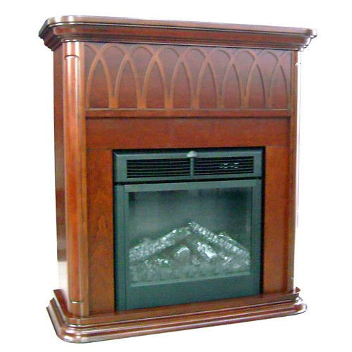 New Adjustable Flame Intensity Staton Electric Fireplace W/ Remote Control