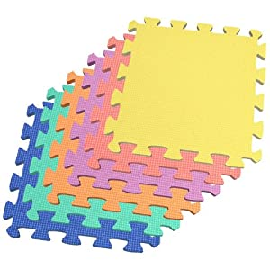 Square Foot Multi-Color EVA Foam Mat with Free Borders: Toys & Games
