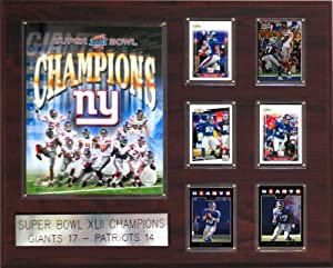NFL 16 x 20 in. New York Giants Super Bowl XLII Champions Plaque by C&I Collectables