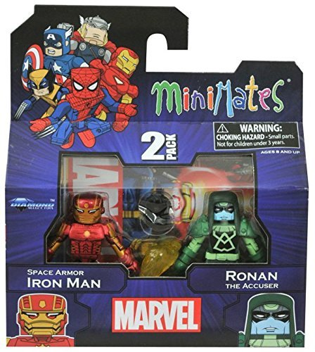 Minimates Marvel Wave 19 Space Armor Iron Man & Ronan The Accuser - 1