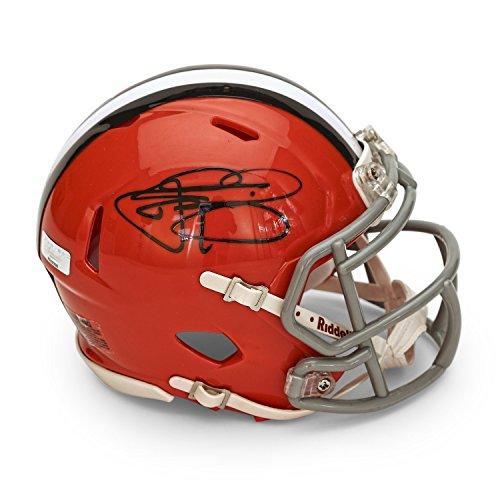 Johnny Manziel Autographed Cleveland Browns Speed Mini Helmet ~Open ...