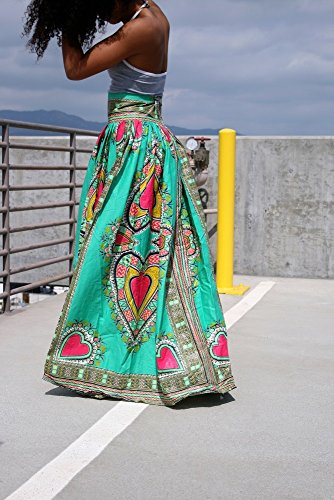 MBrock-Womens-High-Waist-Dashiki-African-Print-Maxi-Skirt-Summer-Boho-Dress