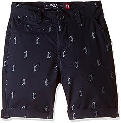 Bare Kids Boys' Shorts (BB/SS16/shorts/91_Navy_11 - 12 years)