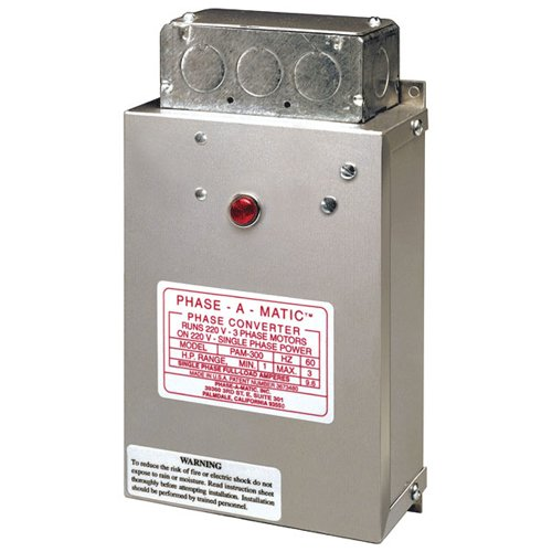 Phase-A-Matic Heavy Duty Static Phase Converter - Model : Pc-600-Hd Horsepower: 3 ~ 5