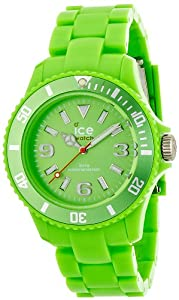 ICE-Watch - Montre Mixte - Quartz Analogique - Ice-Solid - Green - Unisex - Cadran Vert - Bracelet Plastique Vert - SD.GN.U.P.12