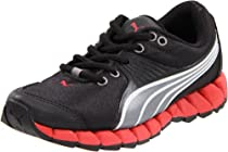 Puma Osuran Lace-Up Sneaker (Little Kid/Big Kid),Black/Steel Silver/Red,6 M US Big Kid