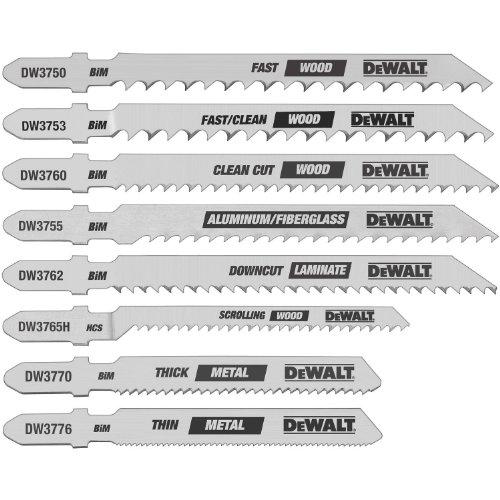 Dewalt Dw3791 8 Piece T Shank Jig Saw Blade Set