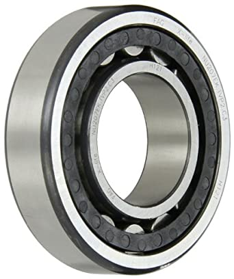 FAG NU207EK-TVP2-C3 Cylindrical Roller Bearing, Single Row, Tapered Bore, Removable Inner Ring, High Capacity, Polyamide Cage, 35mm Bore, C3 Clearance, Metric, 72mm OD, 17mm Width,