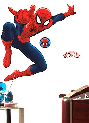 RoomMates RMK2319SLG Ultimate Spiderman Peel and Stick Giant Wall Decal Stickers