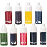 Liquid Dye Colorant for Handmade Soap Bath Bomb Making -Natural Liquid Soap Colorant for DIY Bath Bomb Supplies Kit, Slime, Crafts, etc. 9 Bottles Of 0.30 Oz each. (Color: Multi, Tamaño: 9 Colors)