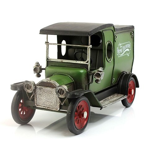 Lesser & Pavey 8-Piece Metal Vintage Delivery Van Collectible, Green