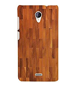 Stylish Wood Pattern 3D Hard Polycarbonate Designer Back Case Cover for Micromax Canvas Unite 2 A106