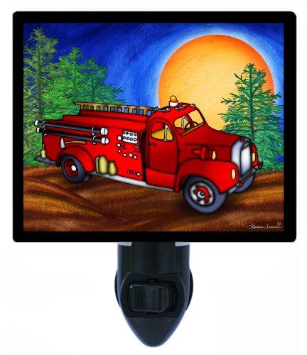 Childrens Night Light - Fire Truck - Led Night Light