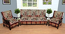 WOW Polycotton 5 Seater Sofa Cover - sc006, Multi Color