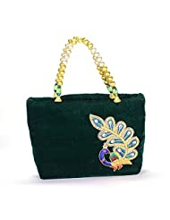 Arisha Kreation Co Women Hand Bag (Green)