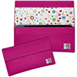 SIMON PIKE Blumen Hülle Handytasche NewYork 8 pink für Apple iPhone 5S 5C 5 aus Filz