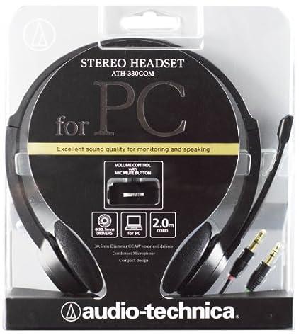 AudioTechnica ATH-330COM On-Ear Headphones