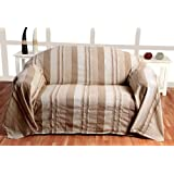 100% Cotton Morocco Striped Beige Throw