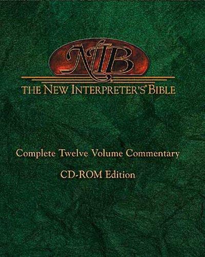 New Interpreter's Bible: Complete Twelve Volume Commentary CD-ROM (New Interpreters Bible Commentaries)