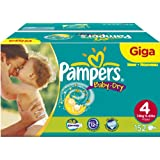 Pampers Baby-Dry Size 4 (15-44 lbs/7-18 kg) Nappies - Giga Pack of 152 Nappies