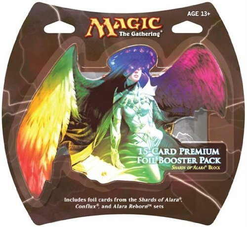 1 Pack of Magic the Gathering: MTG Shards of Alara Premium Foil Booster Pack (15 Foil Cards) Regalo Gioco Giocattolo