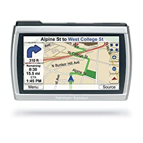 Harman Kardon GPS-510 4-Inch Widescreen Portable GPS Navigator and Media Player