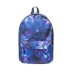 16.5 Inch Galaxy Pattern Urban Lightweight School Book Bag Backpack Daypack
