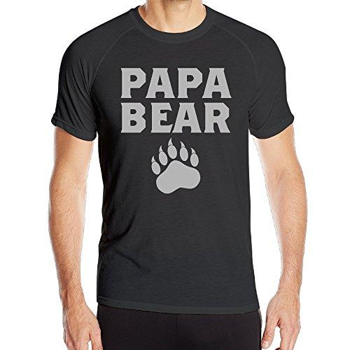 Papa Bear Cute Fathers Day Gift Male Lightweight HyperDri T Shirt