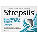 Strepsils Sore Throat & Blocked Nose 36 Lozenges