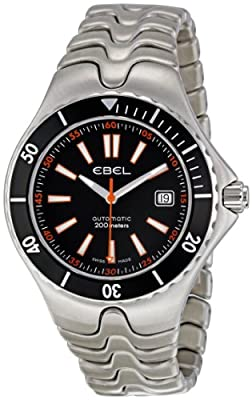 Ebel Men's 1215461 Sportwave Diver Black Dial Watch