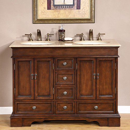 Silkroad-Exclusive-Compact-Travertine-Stone-Top-Double-Small-Sink-Bathroom-Vanity-with-Cabinet-48-Inch