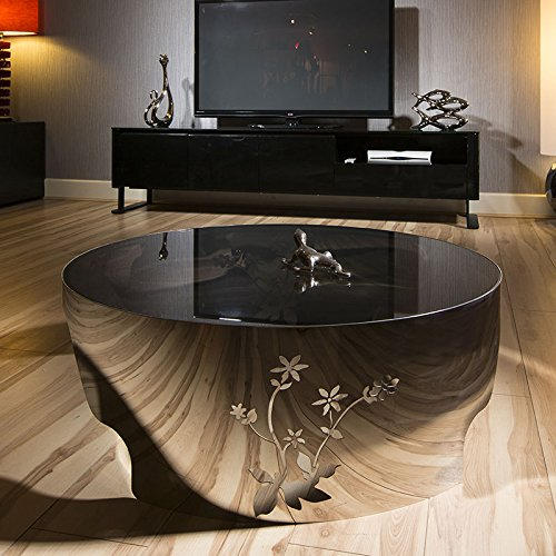 Modern Designer Large Round Coffee Table Glass Top Stainless Steel 119 Buy Cheap Coffee Tables