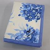 MARIO VALENTINO(マリオ・バレンティーノ) 綿毛布 花柄 シングルサイズ 綿100%(毛羽部分) ブルー