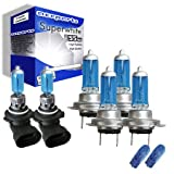 55w Super White Xenon High (main) / Low (dipped) / Fog / Side beam upgrade HeadLight Bulbs BMW 3 Coupe SERIES E46 320 Ci 04.99->